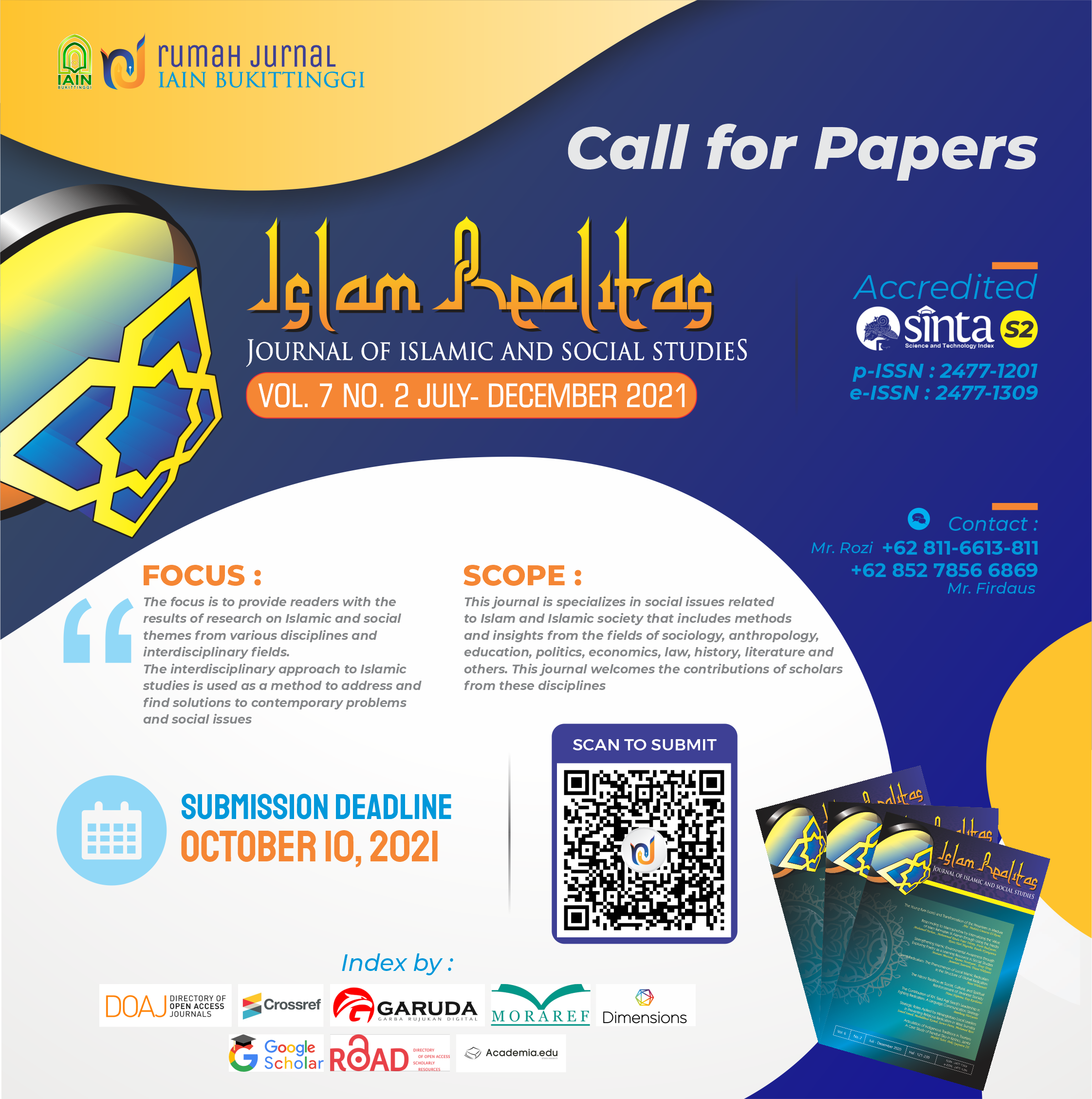 Call for Papers Islam Realitas